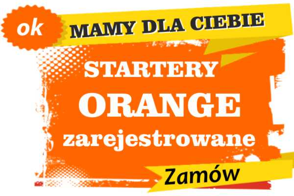 startery zarejestrowane orange